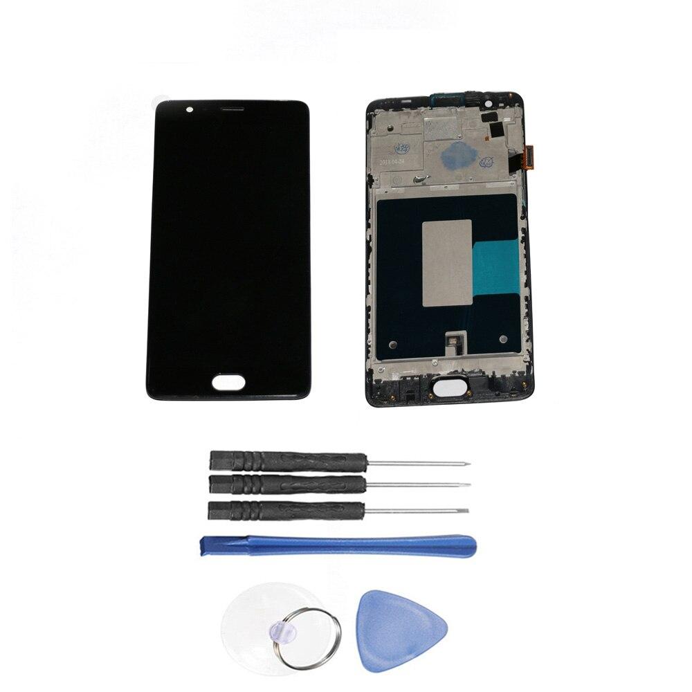 LCD Affichage à L'écran Tactile Digitizer assemblée de remplacement avec Cadre et Des Outils Pour OnePlus Trois 3 A3000 A3003 Accessoires