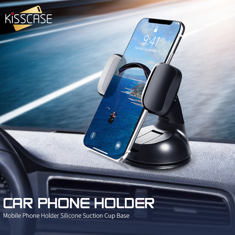 KISSCASE Universal Car Phone Holder For Xiaomi Mi 9 with Silicone Suction Cup Phone Car Holder for iPhone Huawei Holder Stand|Phone Holders & Stands| |  - title=