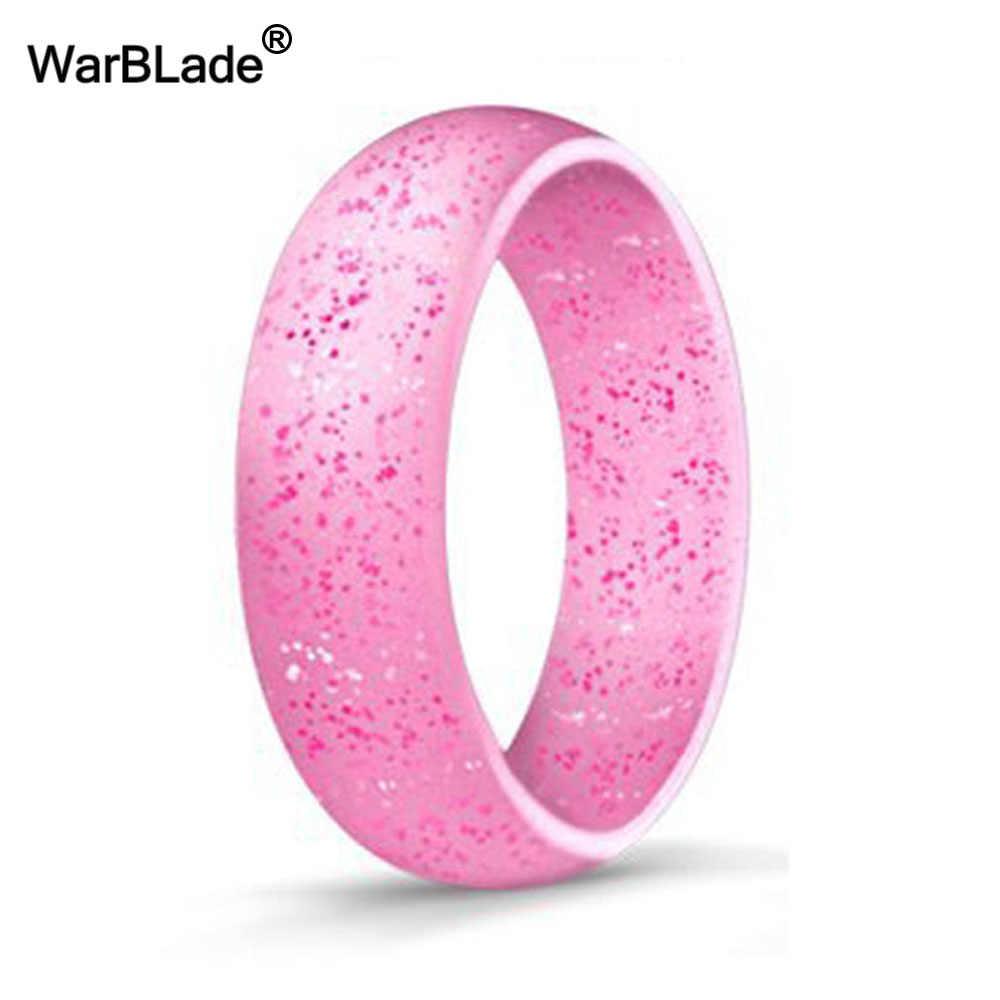 5.7Mm Hypoallergenic Crossfit Fleksibel Karet Cincin 4-10 Ukuran Food Grade FDA Silikon Cincin untuk Pria Wanita pernikahan Perhiasan