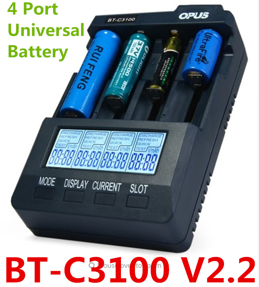 цена на Opus BT C3100 V2.2 Smart Universal LCD LI-ion NiCd NiMh AA AAA 10440 14500 16340 17335 17500 18490 17670 18650 Battery Charger