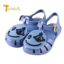 TWINSBELLA shoes boys new summer female child girls sandals Smiley Face PVC princess baby boy shoes fashion Jelly sandals