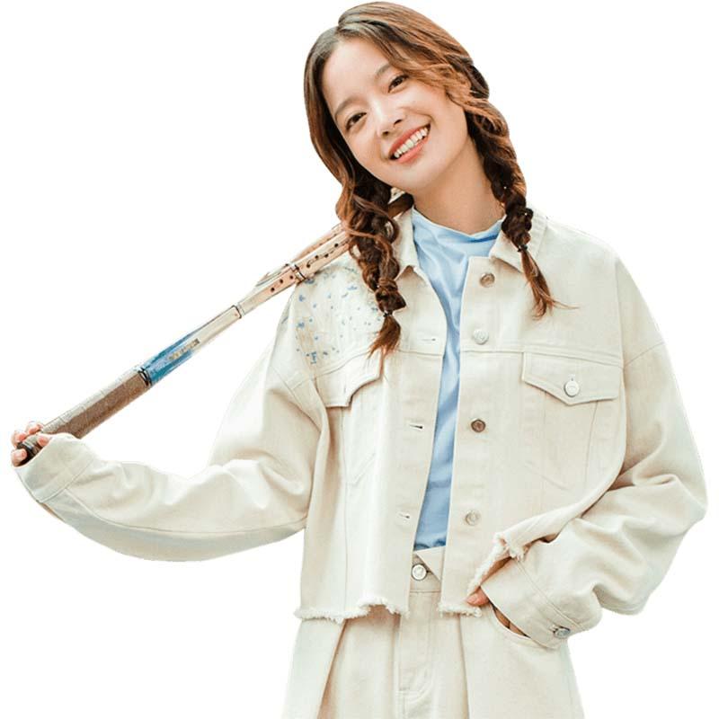 Blusas de Jean para mujer de manga larga delgadas coreanas con bordado literario con cuello vuelto otoño INMAN-in chaquetas básicas from Ropa de mujer on AliExpress - 11.11_Double 11_Singles' Day 1