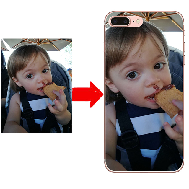Funda de silicona estampada personalizada para teléfono DIY para iPhone X 8 8 Plus 7 6 sPlus SE 5 para samsung S9 S8 s9Plus S7 borde Nota 8