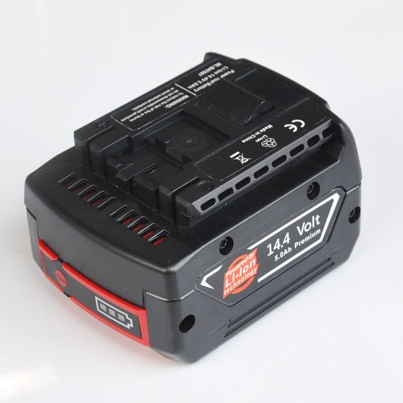 Batterie rechargeable Li-ion 14.4 V 5000 mah pour perceuse électrique sans fil BOSCH BAT607, BAT607G, BAT614, BAT614G