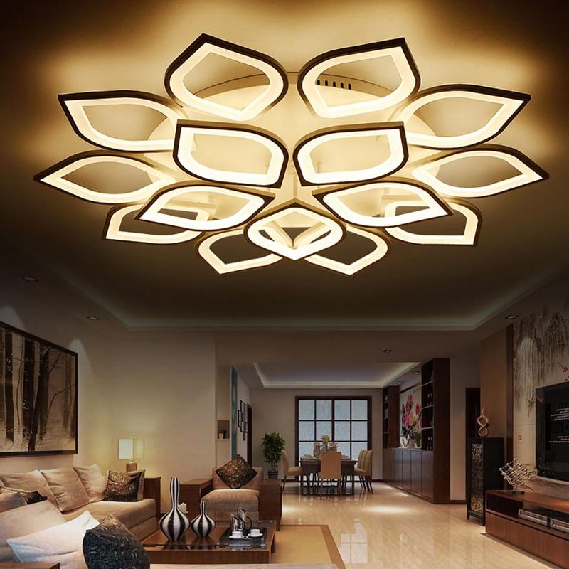 Ceiling Lights & Fans Ac85v~260v Modern Led Ceiling Lights For Living Room Bedroom Creativity Flower Type Lighting Fixtures Ceiling Lamp Free Shippin