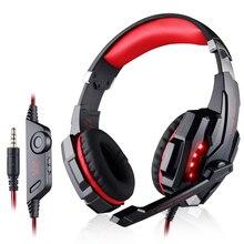KOTION CADA Gaming Headset Gamer Auriculares Con Micrófono Auricular Atado Con Alambre LED de Aislamiento de Ruido Auriculares para el Ordenador portátil