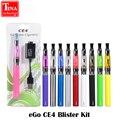 Blister eGo CE4 cigarrillo electrónico al por mayor E Cig Kits 650 mAh/900 mAh/1100 mAh Mejor Atomizador Cargador de Batería recargable