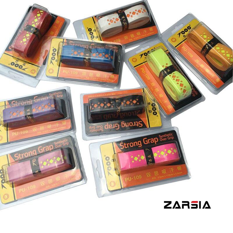 (10 Teile/los) Topo Starke Viskose Batminton Griffbänder, Tennis Schläger Griffbänder, 2 Farben Perforierte Karte Verpackung Qualität Schweißbänder