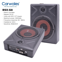 Speakers Subwoofer Active-Bass Vehicle Under-Seat 300w-Amplifier Ultra-Thin Audio 8-Inch