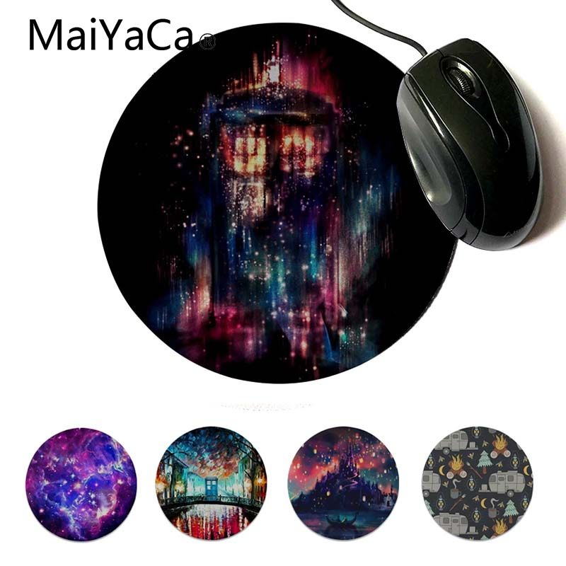 MaiYaCa My Favorite All of Time and Space Dxy Gamer Speed Mice Retail Small Rubber Mousepad Computer Game Rubber Round Mouse Pad image