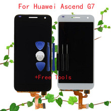 LCD Display + Touch Screen Digitizer Assembly For Huawei Ascend G7 G7-l01 G7-l03 LCD Replacement Free Shipping