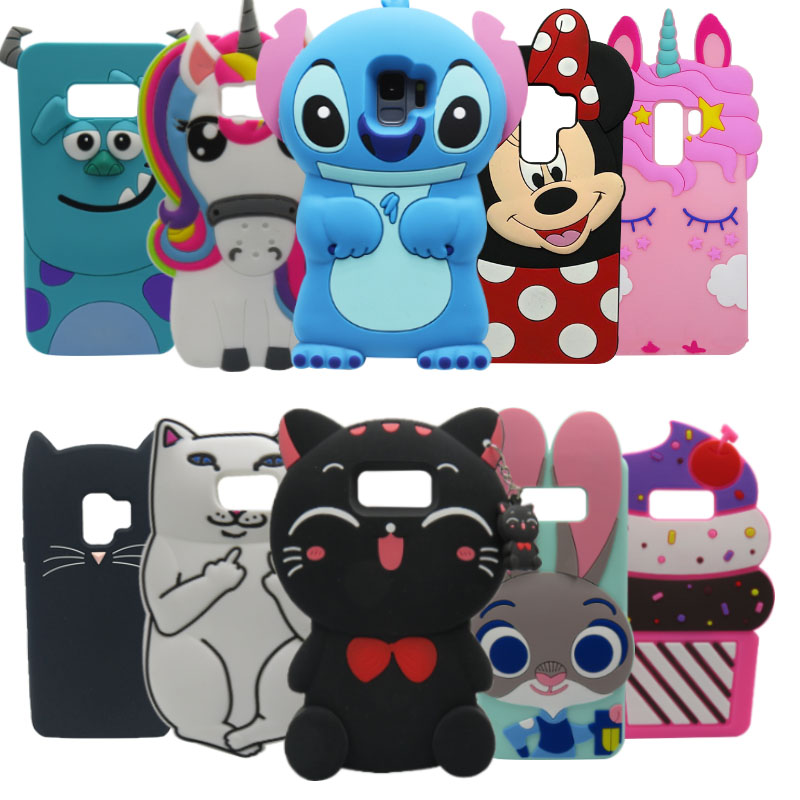 For Samsung S9 Plus Case Cute 3D Silicon Cat Cupcake Cartoon Soft Cover for Samsung <font><b>Galaxy</b></font> S8 PLUS S7 Edge S9 <font><b>S10</b></font> Coque Fundas image
