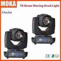 2 Pcs/lot beam 7r moving head light sharpy 7r lamp touch screen for stage light Dj light disco light