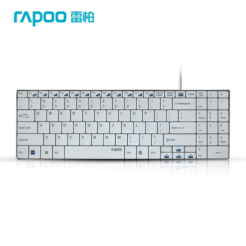 rapoo n7200 ultra thin slim usb wired keyboard professional slim light usb gaming computer. Black Bedroom Furniture Sets. Home Design Ideas