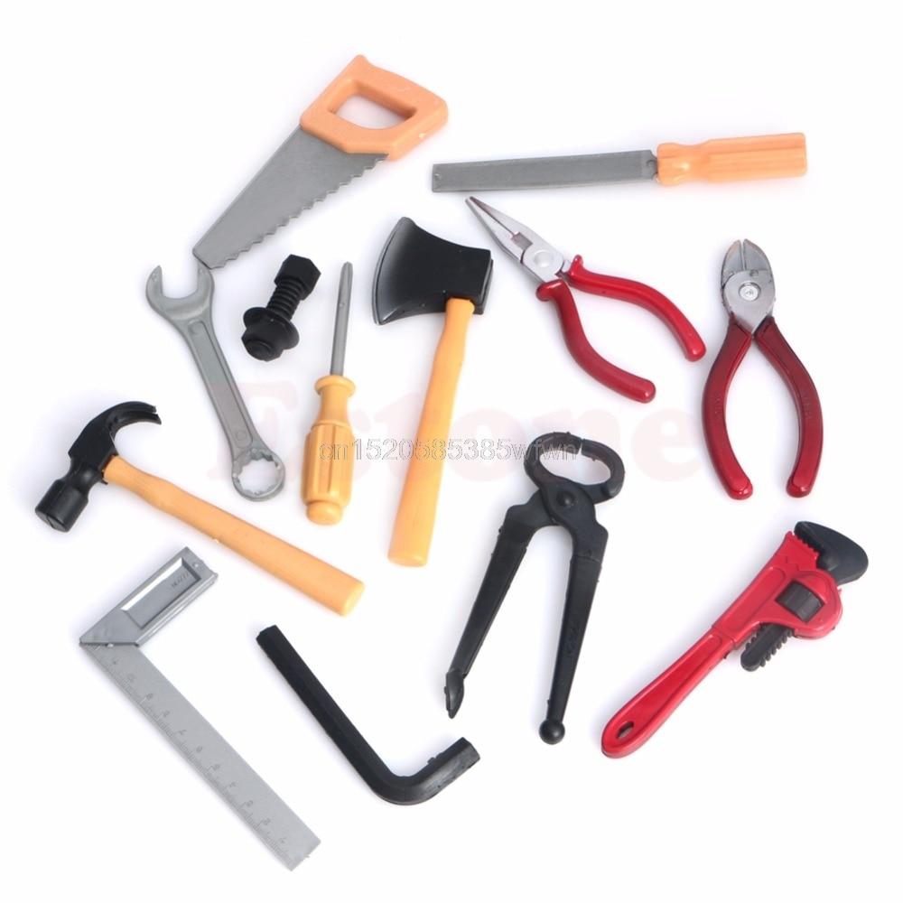 1set DIY Plastic Gifts Children Kids Boy Building Repair Tool Kits Set Construction Toy #HC6U# Drop Shipping