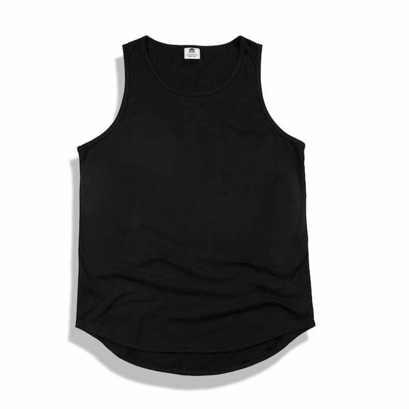 Kanye west стиль мужской жилет хлопок Свободная майка для мужчин сплошной цвет Мужские недорогие футболки модные новые мужские топы одежда