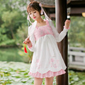 Princess sweet lolita dress Candy rain new women's day  Chinese style sweet modified long sleeved  embroidered dress C16CD6172