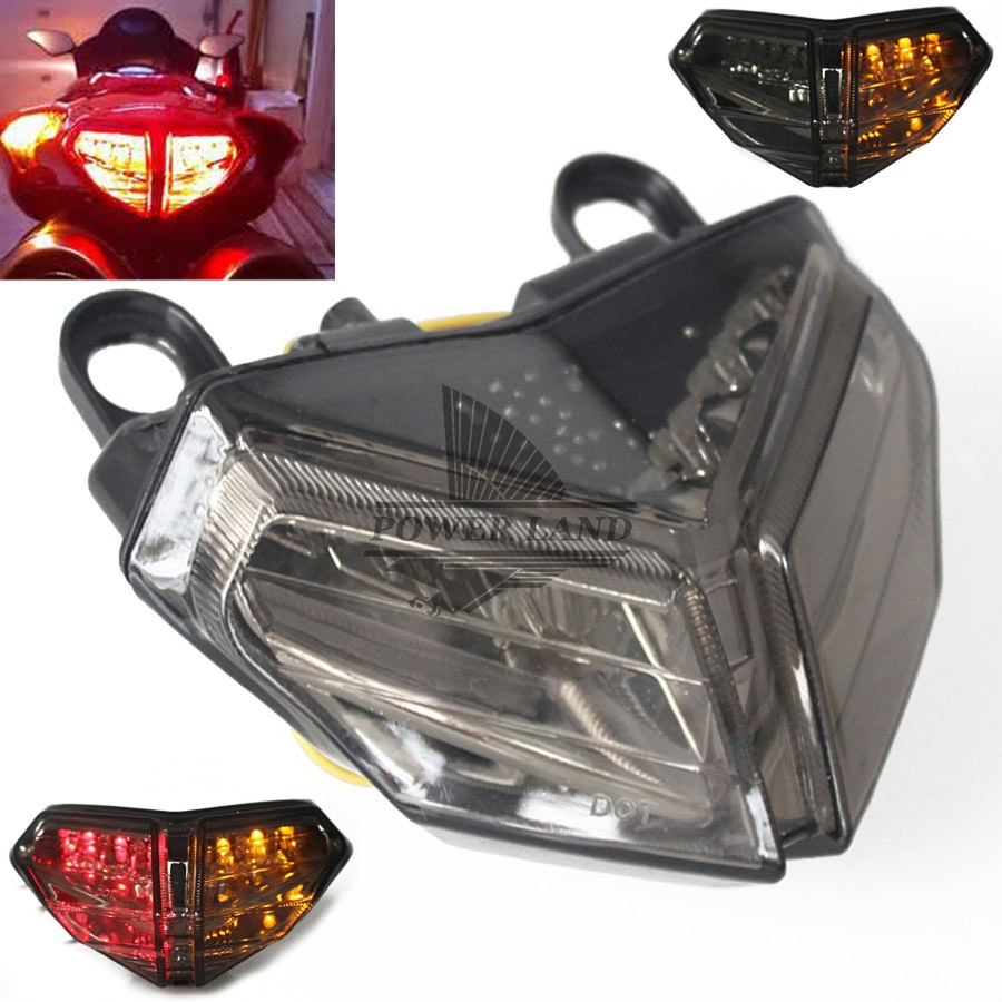 Auto LED Motorcycle Smoke Lens Rear Turn Signal Brake Tail Light Integrated Brake Stop Lamp Fit For Ducati 848 08 09 10 11 2012 for yamaha fz 09 mt 09 fj 09 mt09 tracer 2014 2016 motorcycle integrated led tail light brake turn signal blinker lamp smoke