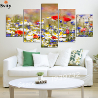 Flowers Painting Home Decoration For Wedding Wall Canvas Art 5 Piece Modern Abstrac HD Landscape Picture
