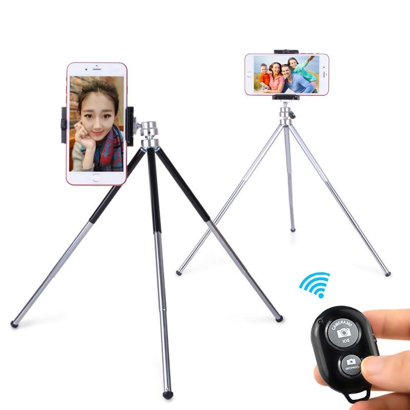 Metal Mini Stativ Med Telefonhållare Bluetooth Fjärrkontroll För - Kamera och foto - Foto 6