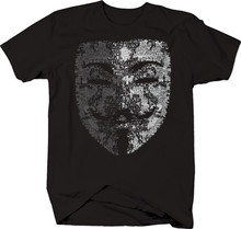Guy Fawkes Anonymous Maske Kostenloser Informationen T-Shirt Herren(China)