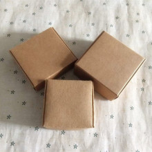 5*5*2.8 см 50 шт./лот пустой подарочная упаковка бумажная коробка, бутик Ретро коричневой крафт-бумаги Свадебная вечеринка пользу конфеты упаковочной коробки