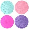 Ferramenta cosmetologia Trazer Otário 2 Uso de Sílica Gel Pincel De Maquiagem Limpa Almofada Redonda 4 Cores Opcionais
