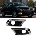 For Toyota Camry 2009-2011 2pcs LED DRL Daytime Running Lights with Yellow Turning Signal