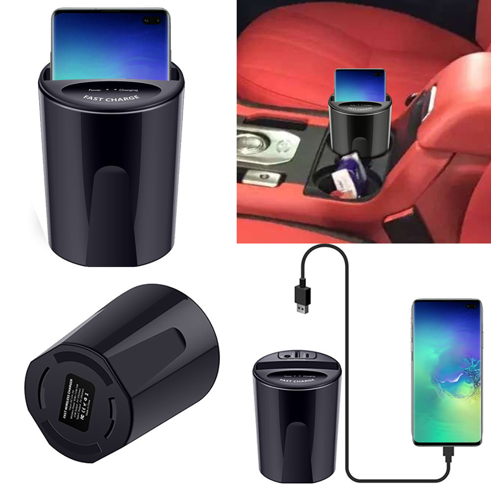 Wireless Charger Cup with USB Output for Car 11