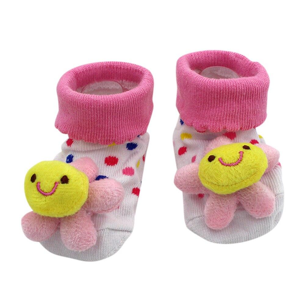 1 Pair Baby Cotton Socks For Newborns Gift Animal Lot Anti Slip With Rubber Soles For Child Boy Girl Newborn Baby Socks #YL