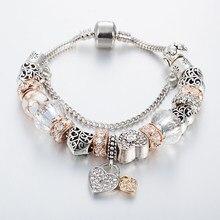 Annapaer 2019 catena design estilo europeu charme pulseiras presentes para mulher corrente pulseiras & pulseiras diy jóias pulseras b16077