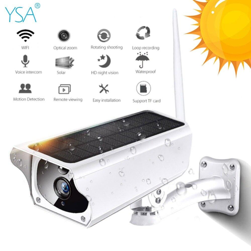 YSA 2MP Solar 1080 P Câmera IP Sem Fio Wi-fi Câmera Ao Ar Livre IR Night Vision Segurança Vigilância À Prova D' Água Solar Power HD cam