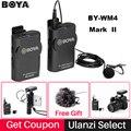 Boya BY-WM4/WM4 Mark II Wireless Studio Condenser Microphone System Lavalier Lapel Interview Mic for iPhone Canon Nikon Cameras