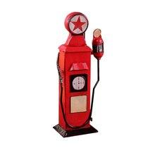 Iron Craft Retro Gas Station Pig Piggy Bank Money Box Saving Coin Cash Vintage Home Decor