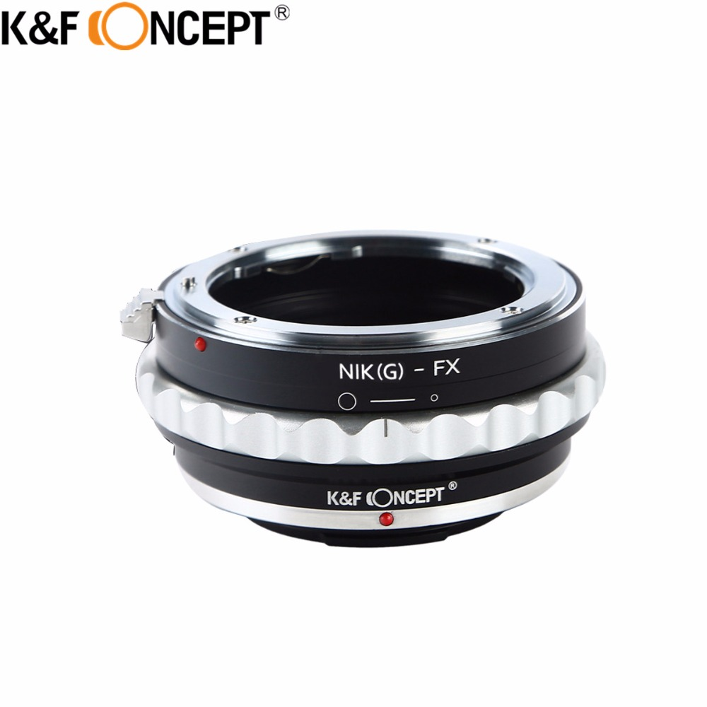 K&F CONCEPT AI(G)-FX Camera Lens Adapter Ring For Nikon G/F/AI/AIS/D Lens To for Fujifilm Fuji FX X-Pro1 X-M1 X-A1 X-E1 Camera d k x cmh