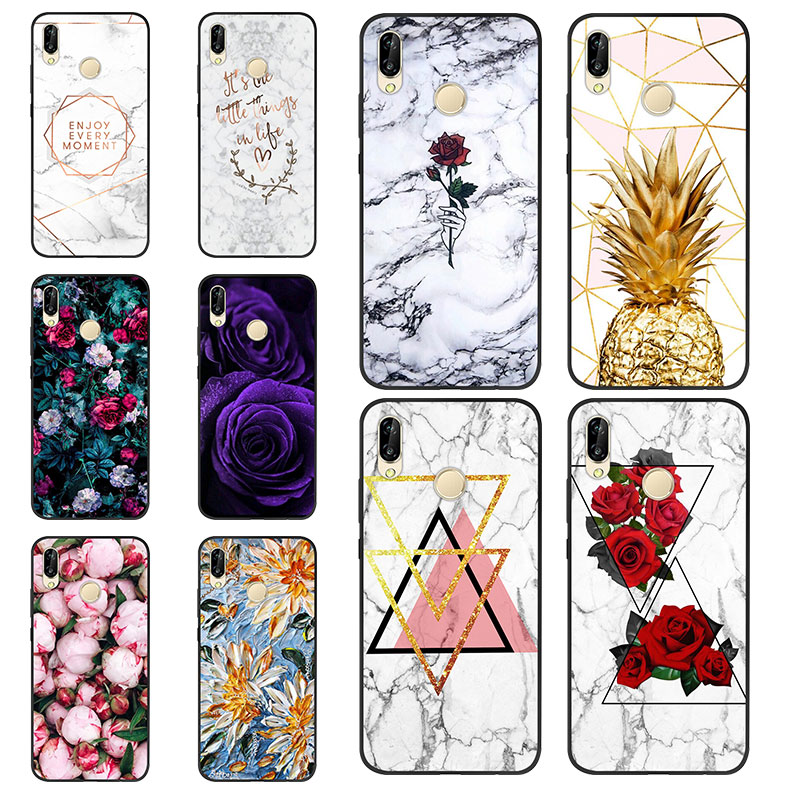 Case For Huawei Honor 8X Black Soft Silicone TPU Case For Coque Huawei Honor 8X Bumper Cute Painting Black Back Cover Case Capa