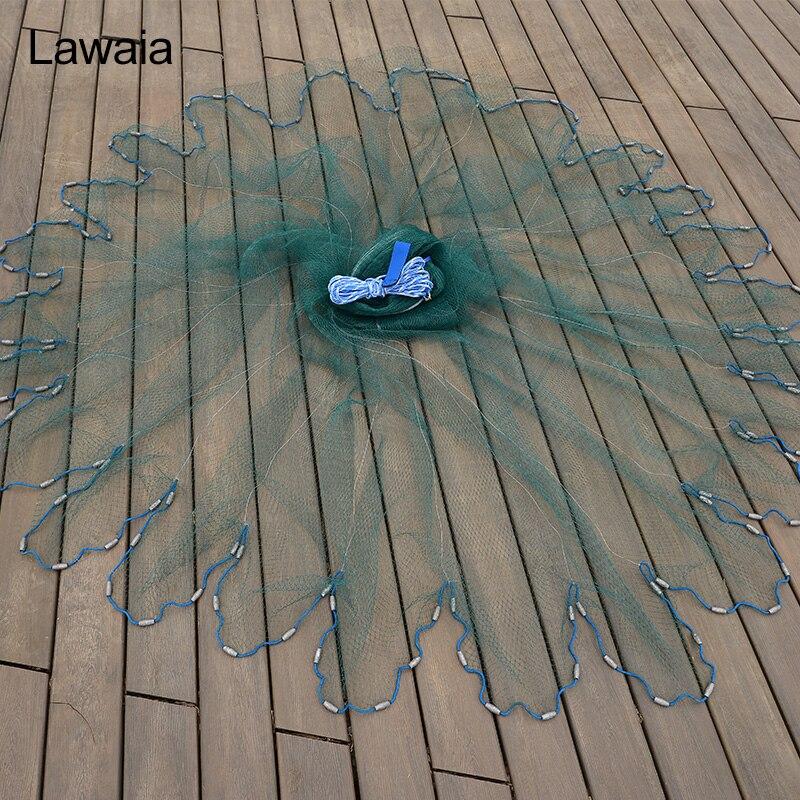 Lawaia Hand Throw Network USA Cast Nets Fly Captura de caza Red de - Pescando