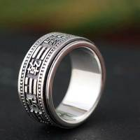 FNJ 925 Silver Good Luck Ring Men New Fashion Zircon S925 Sterling Thai Silver Rings for Women Jewelry USA Size 6 13
