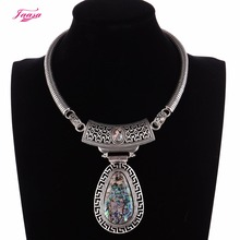 The vintage woman necklace big drop shell pendant popular jewelry new design 2017