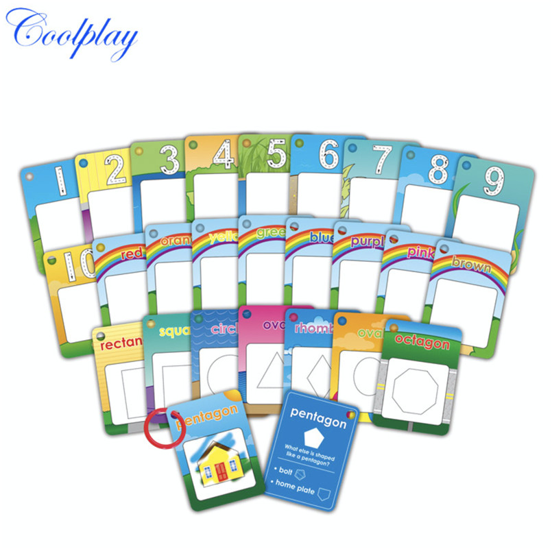 Coolplay Magic Water Painting Doodle Letter Card Toy 26 Alphabet Coloring 3D Drawing Board Book Educational Toys For Childrens