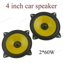a pair 4 inch 2x60W Full-range car speaker Automobile automo