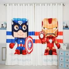 Custom Made 2x Grommet Drapery Curtain Nursery Kid Children Boy Room Window Dressing Tulle 200x260cm Hero Capital Iron White