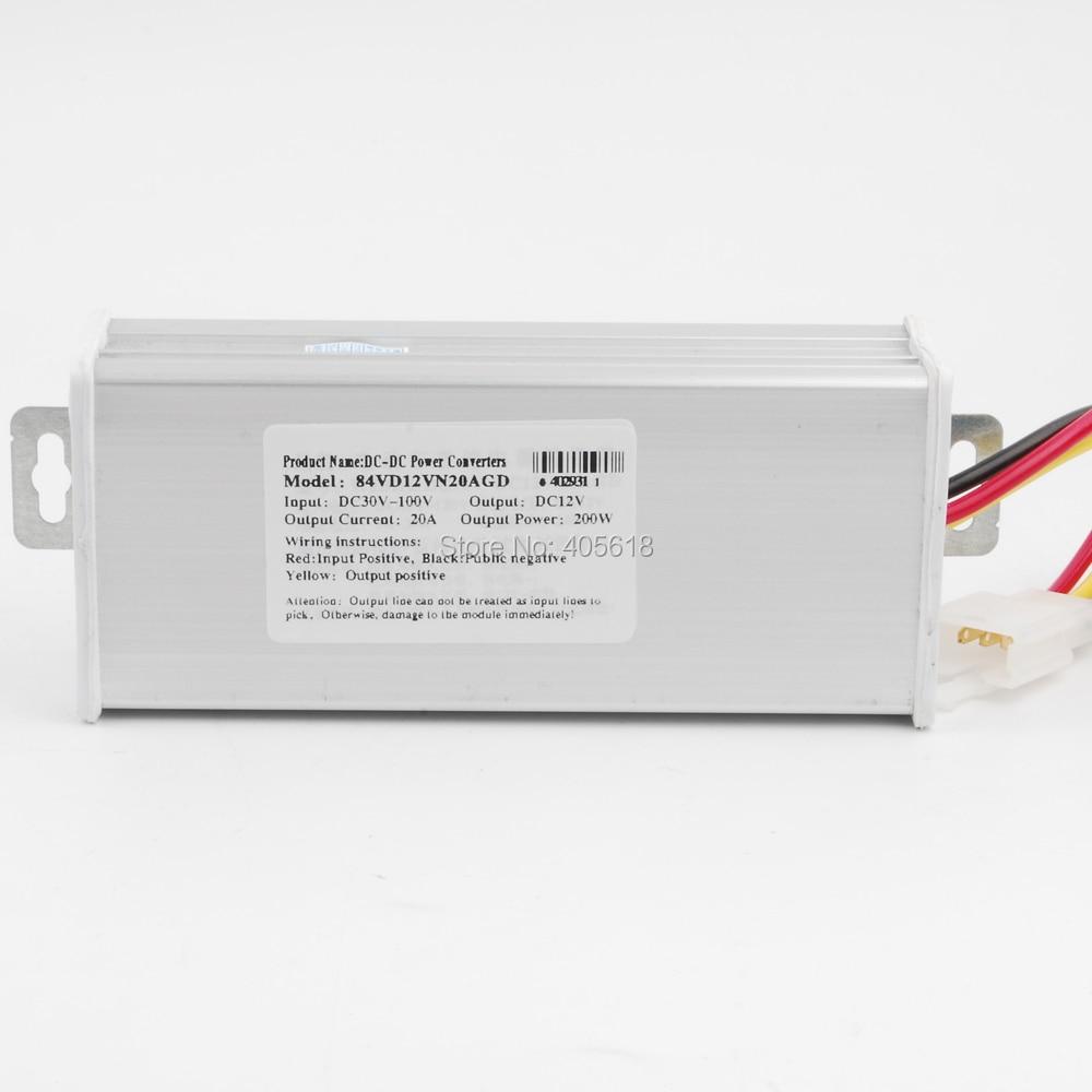 DC DC step-dowon Converter Voltage Regulator 240W/20A 84v(30-100v) to 12VDC DC step-dowon Converter Voltage Regulator 240W/20A 84v(30-100v) to 12V