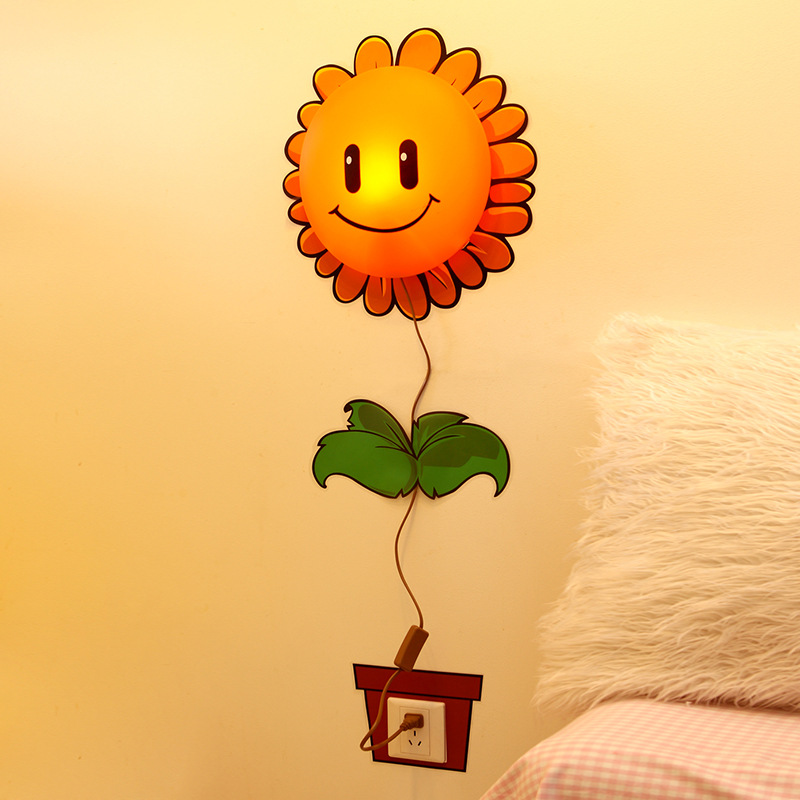 Led Wall Lamp with Plug in Cartoon 3D Children's Room Wallpaper Wall Lamp Bedside Lamp Home Decoration Wall Stickers Night Light стоимость