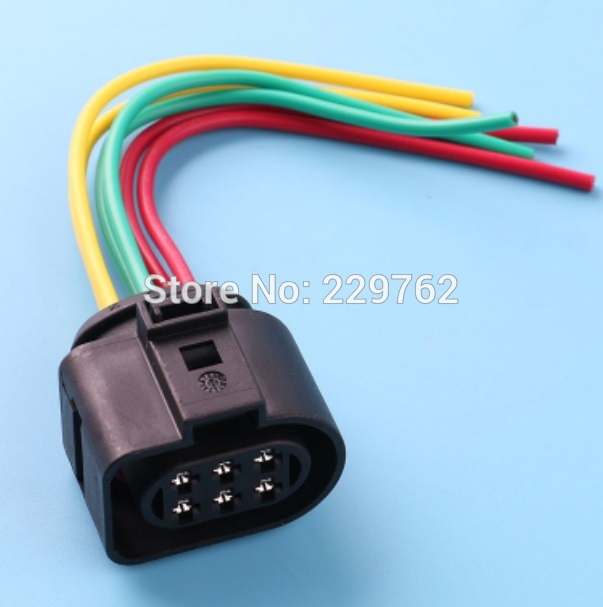 online get cheap audi wiring harness com alibaba group 4pcs lsu 4 2 6 pin car sensor connector pigtail case for vw 1j0973733 1j0 973 733 6 way 350 plug wiring harness new wire