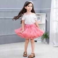 2019 New Girls Skirt Summer Children Fashion Cute Net Skirt Baby Princess Bow Tutu For Toddler Girl Pleated Skirt