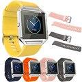 Venda de reloj de 23mm correa de reloj pulsera de silicona suave para fitbit incendio smart watch 2016 venta caliente de diseño de moda