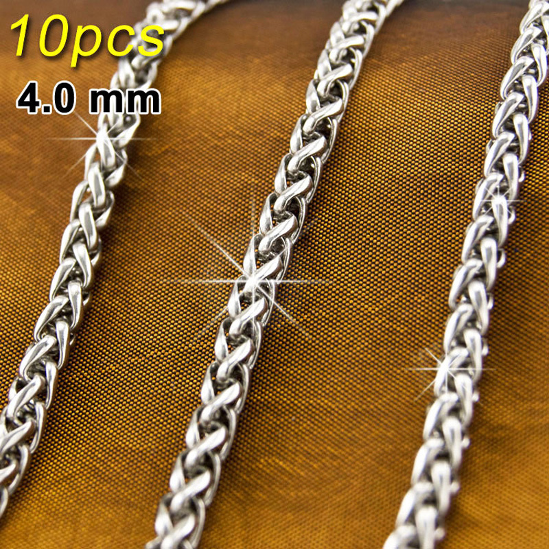 Halskette Rund 4 mm Edelstahl 316L 60 cm lang Damen Herren