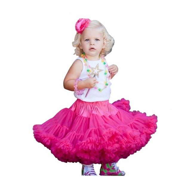 Baby girls chiffon fluffy pettiskirts tutu Princess party skirts Ballet dance wear 12Mo-15 Y  Free shipping