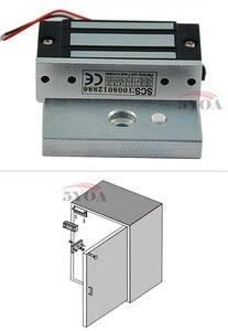 Image 5 - 12V אלקטרוני מגירת מנעול חשמלי מגנטי ארון דלת מנעולי 60kg 100lbs כוח מחזיק אלקטרומגנטית מיני M60